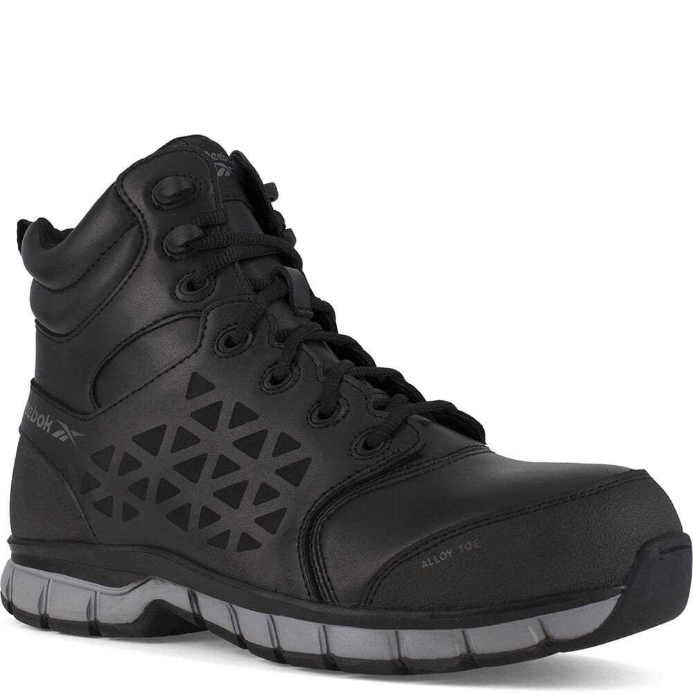 Image for Reebok Women's Sublite Cushion Wedge Safety Boots - Black from bootbay