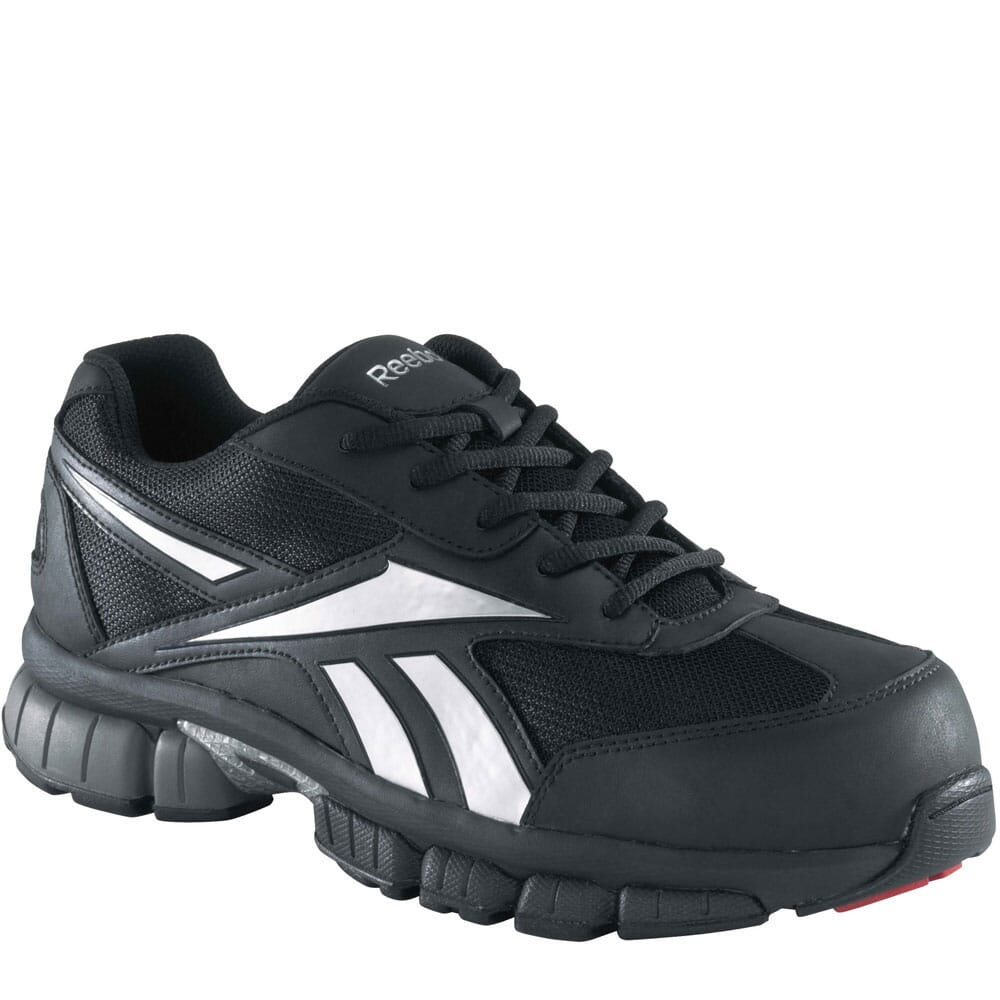 Image for Reebok Men's Cross Trainer Safety Shoes - Black/Silver from bootbay