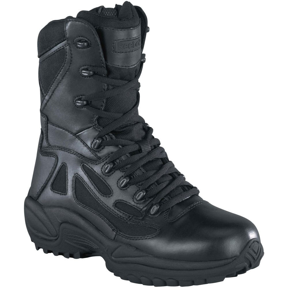 Image for Reebok Men's Stealth 8IN Uniform Boots - Black from bootbay