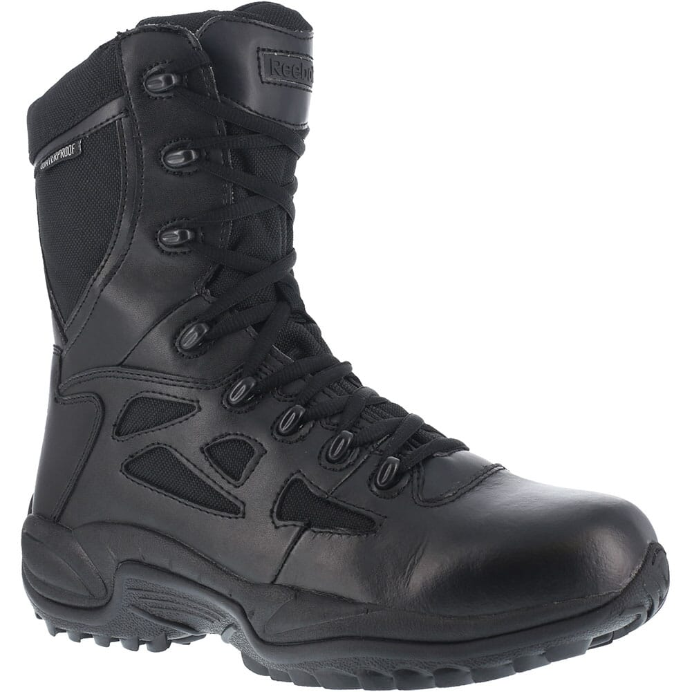Image for Reebok Men's Stealth 8IN WP Uniform Boots - Black from bootbay