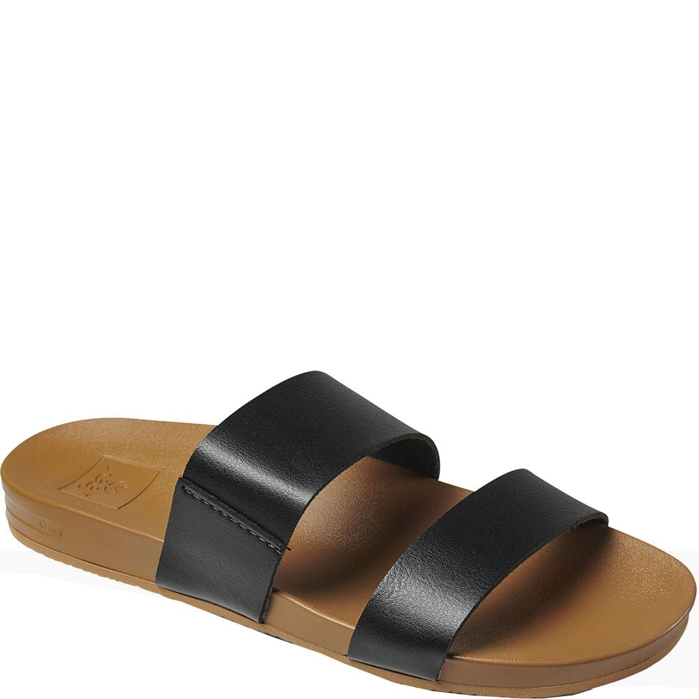 Image for Reef Women's Cushion Vista Sandals - Black/Natural from elliottsboots