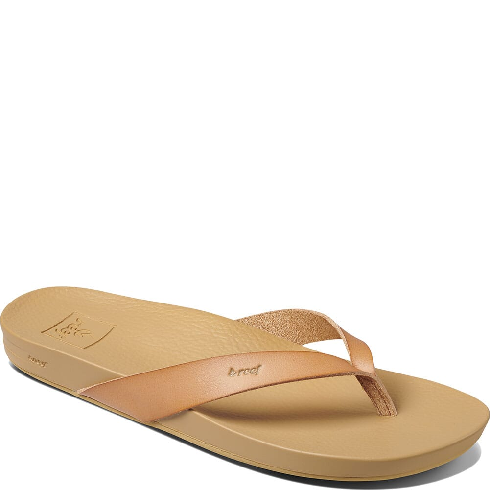 Image for Reef Women's Cushion Court Flip Flops - Natural from elliottsboots