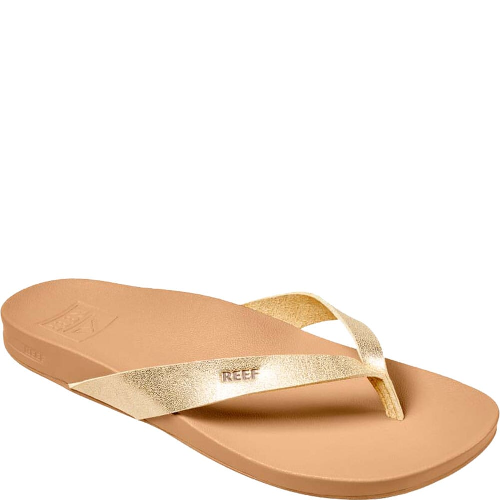 Image for Reef Women's Cushion Court Flip Flops - Tan/Champagne from elliottsboots