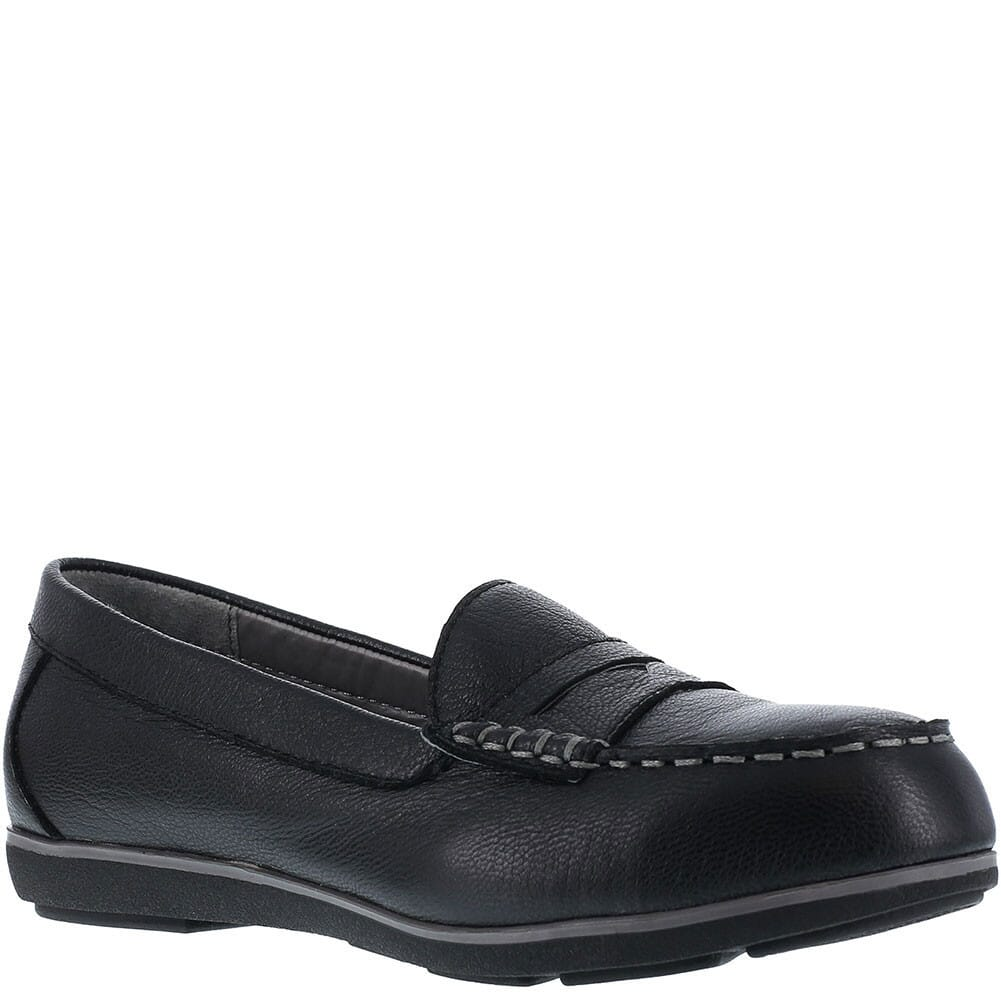 Image for Rockport Works Women's Penny Loafer Safety Shoes - Black from bootbay