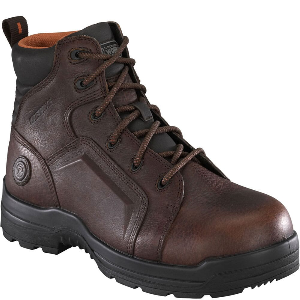 Image for Rockport Works Men's More Energy Safety Boots - Brown from bootbay