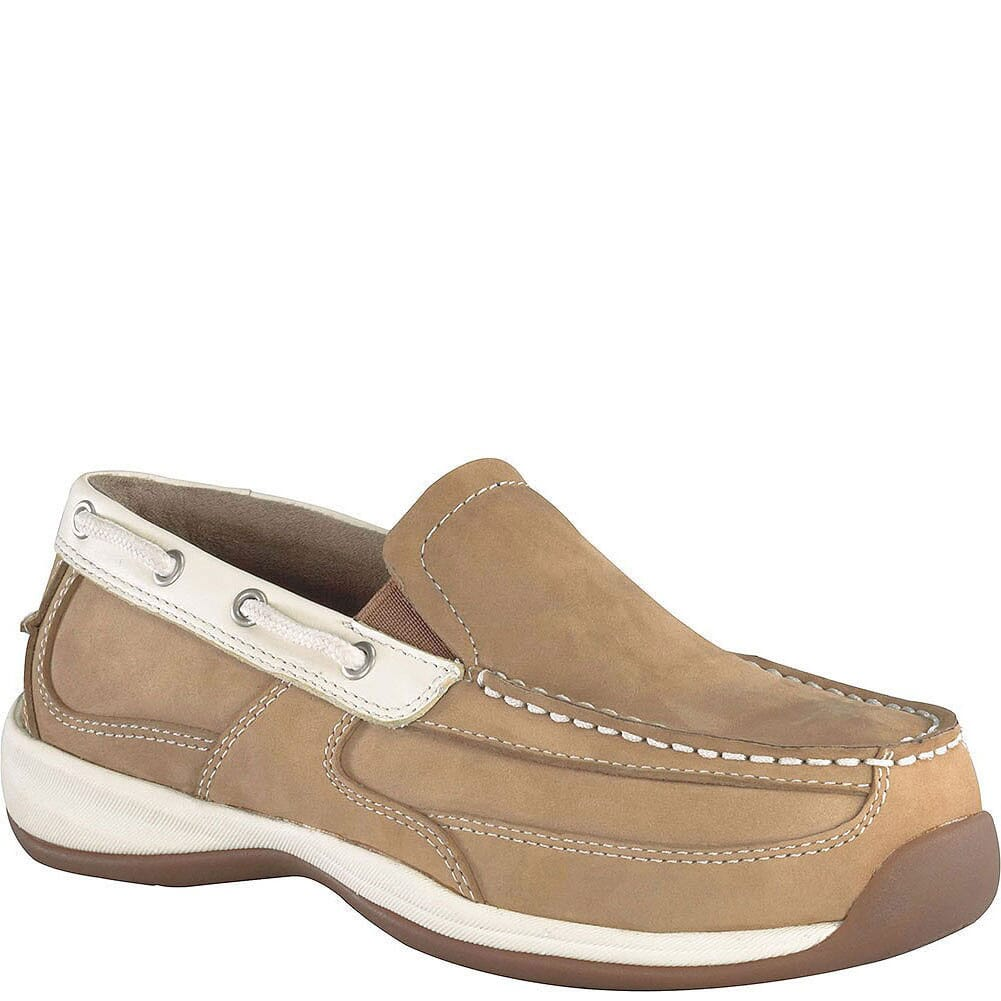 Image for Rockport Works Women's Sailing Club Safety Shoes - Cream/Tan from elliottsboots
