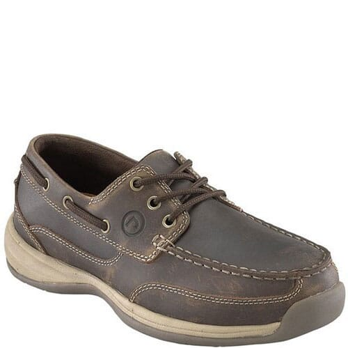 Image for Rockport Works Men's Tie Boat Safety Shoes - Brown from bootbay