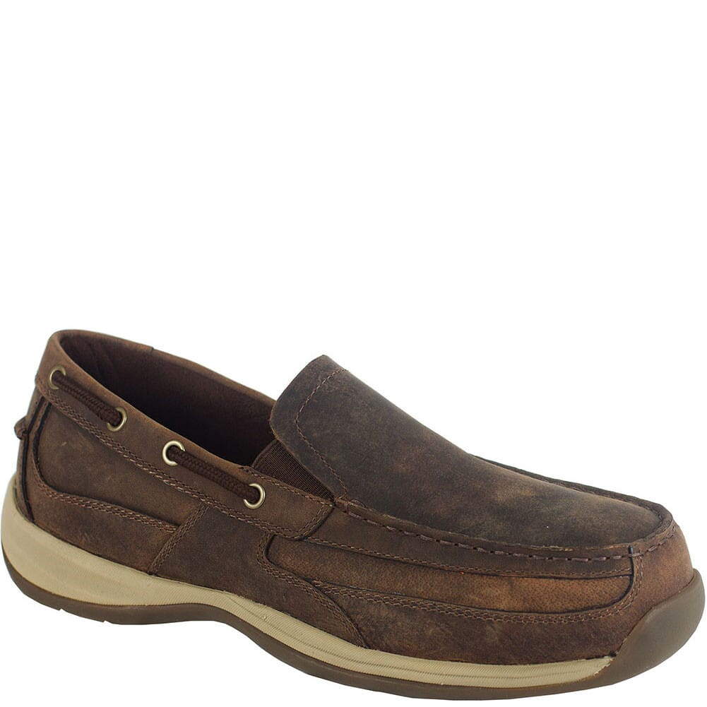 Image for Rockport Works Men's EH Boat Safety Shoes - Brown from bootbay