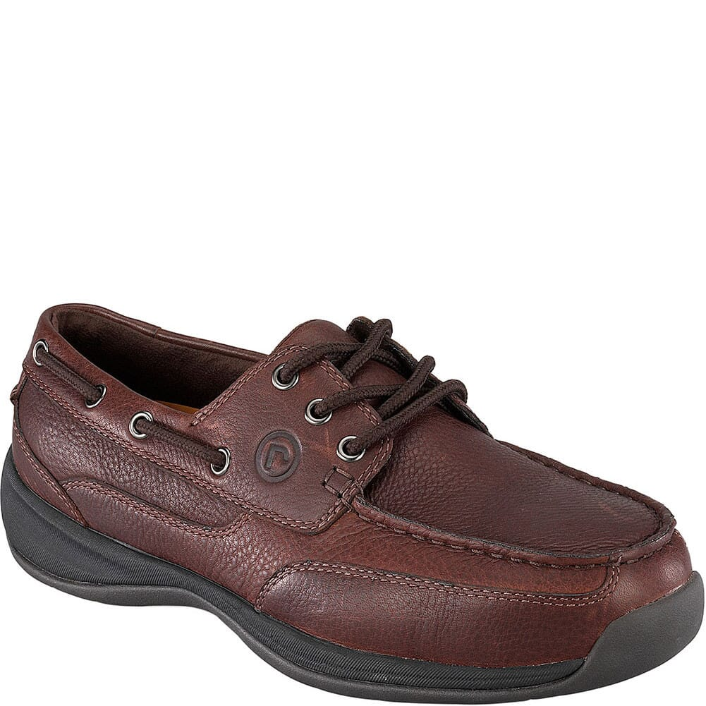 Image for Rockport Works Men's SD Boat Safety Shoes - Dark Brown from bootbay