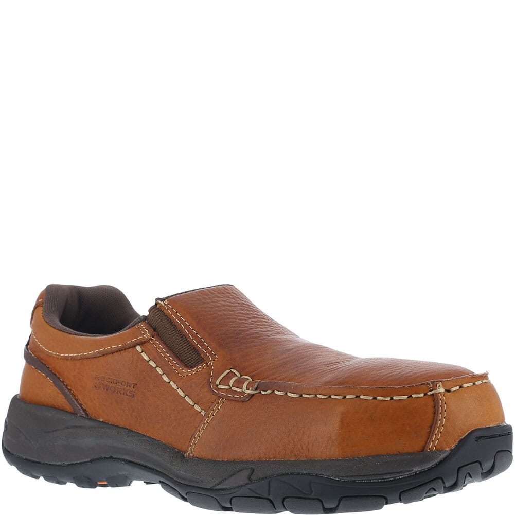 Image for Rockport Works Men's Extreme Light Safety Shoes - Brown from bootbay