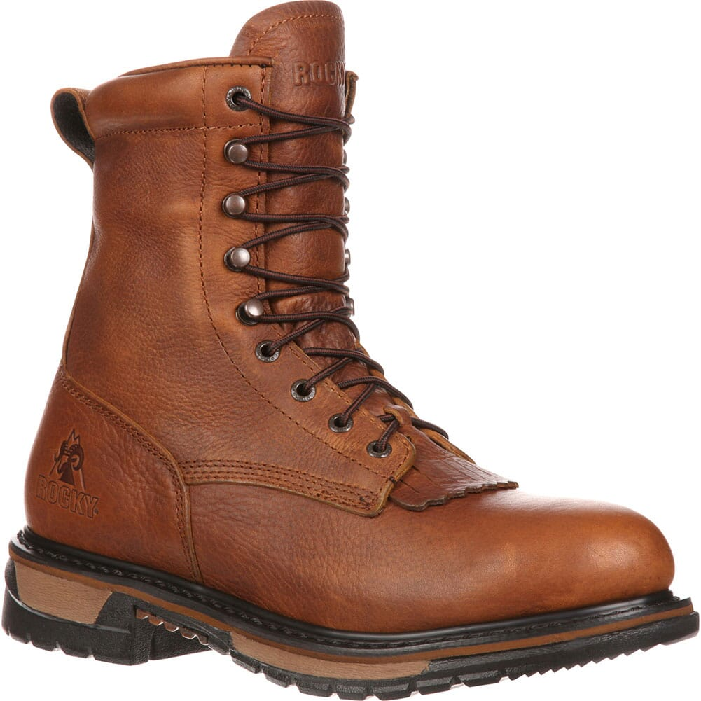 Image for Rocky Men's Ride Lacer WP Work Boots - Tan from bootbay
