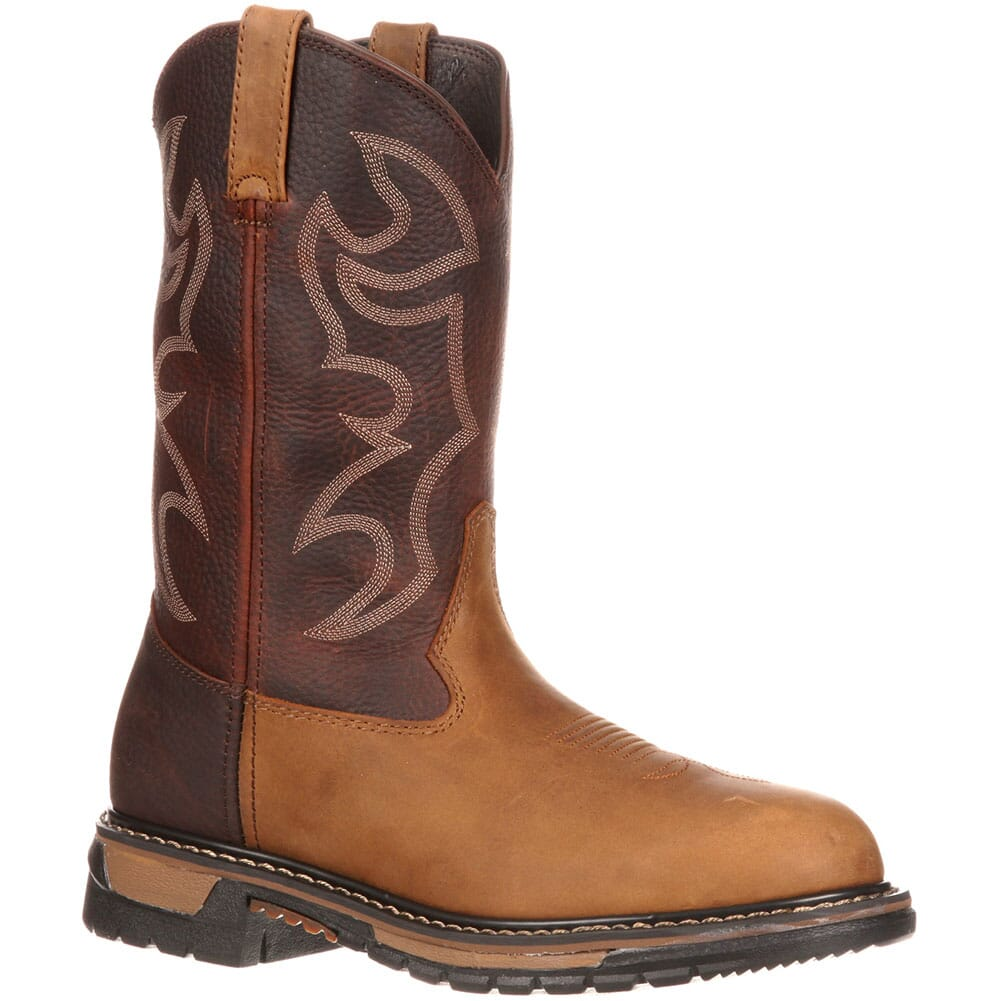 Image for Men's Branson Work Rocky Ropers - Bridle Brown from bootbay