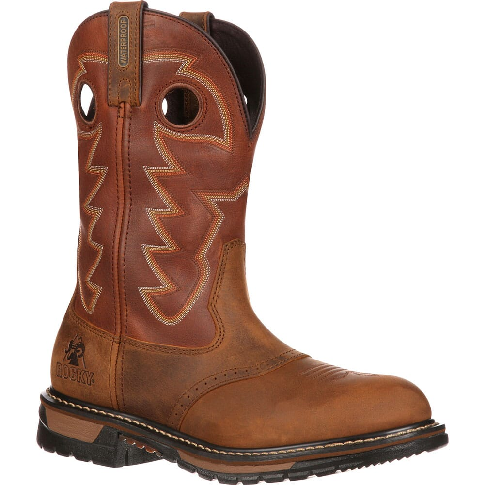 Image for Rocky Men's Branson Saddle Western Ropers - Brown from bootbay