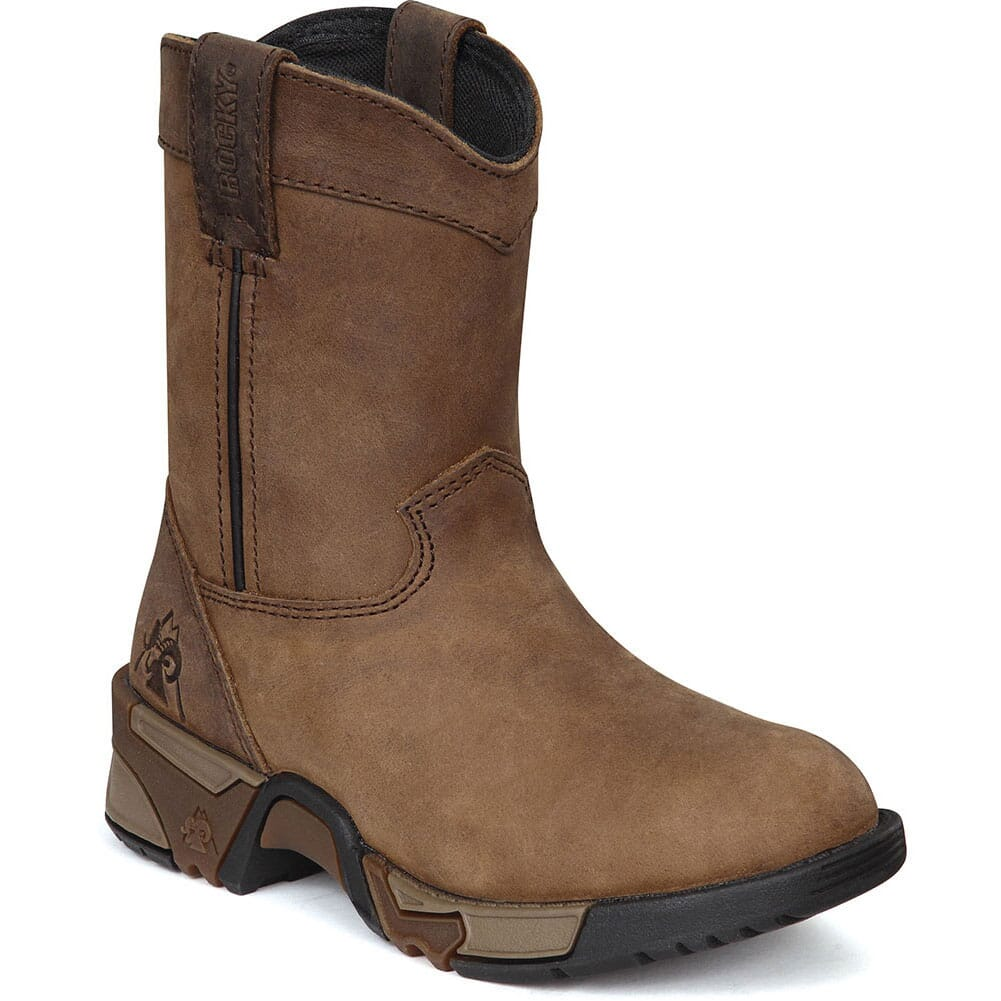 Image for Rocky Kid's Aztec Pull-On Boots - Brown from bootbay