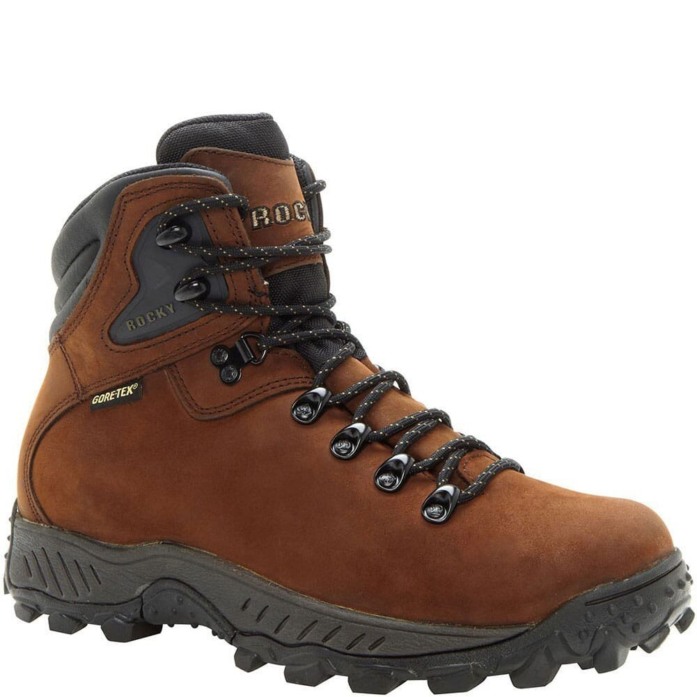 Image for Men's Creek Bottom GTX Hiking Rocky Boots - Dark Brown from bootbay