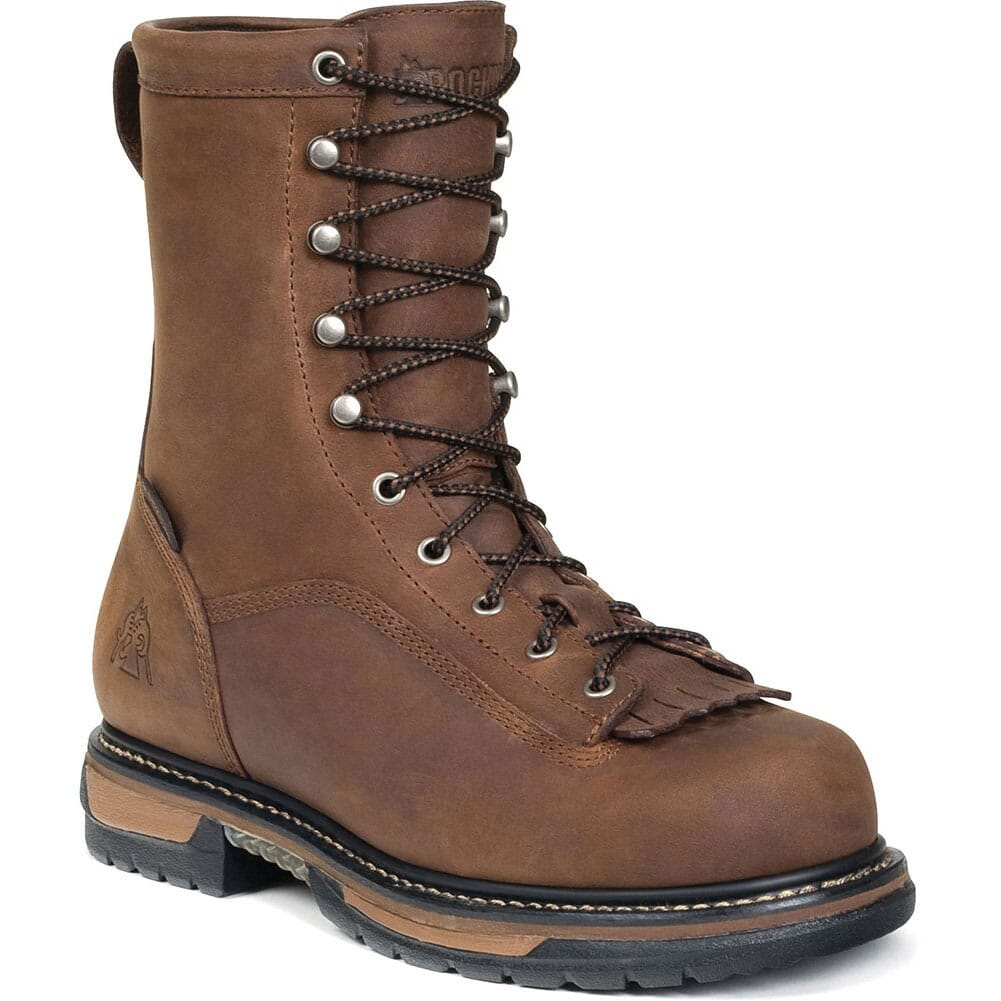 Image for Rocky Men's IronClad Waterproof Safety Boots - Brown from bootbay