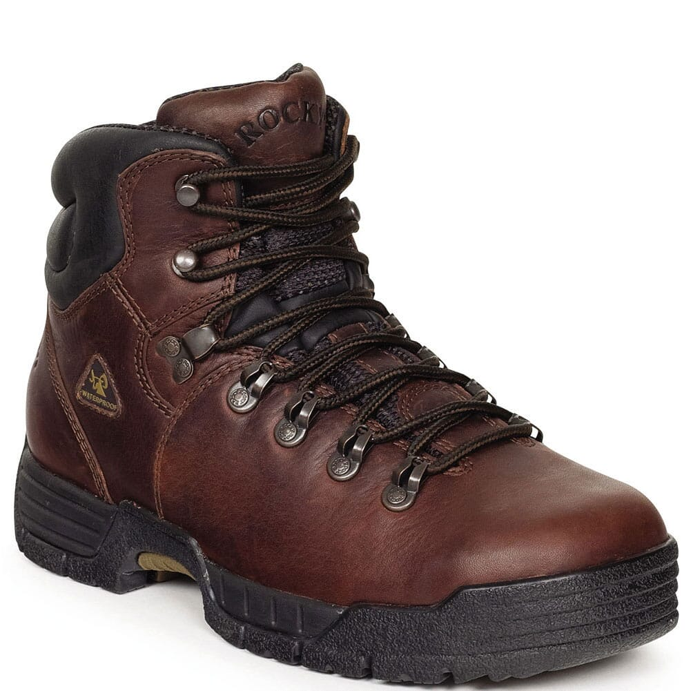 Image for Rocky Men's MobiLite 5IN Work Boots - Dark Brown from bootbay