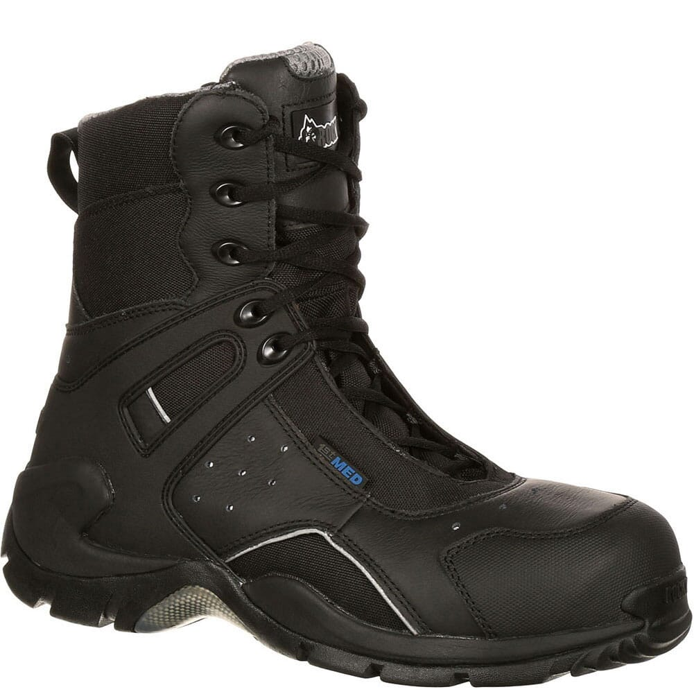 Image for Rocky Men's 1ST Med Side-Zip WP Safety Boots - Black from bootbay