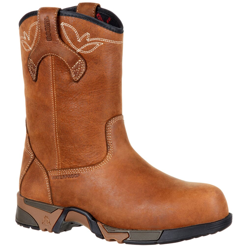 Image for Rocky Women's Aztec WP Safety Pull-On Boots - Brown from elliottsboots