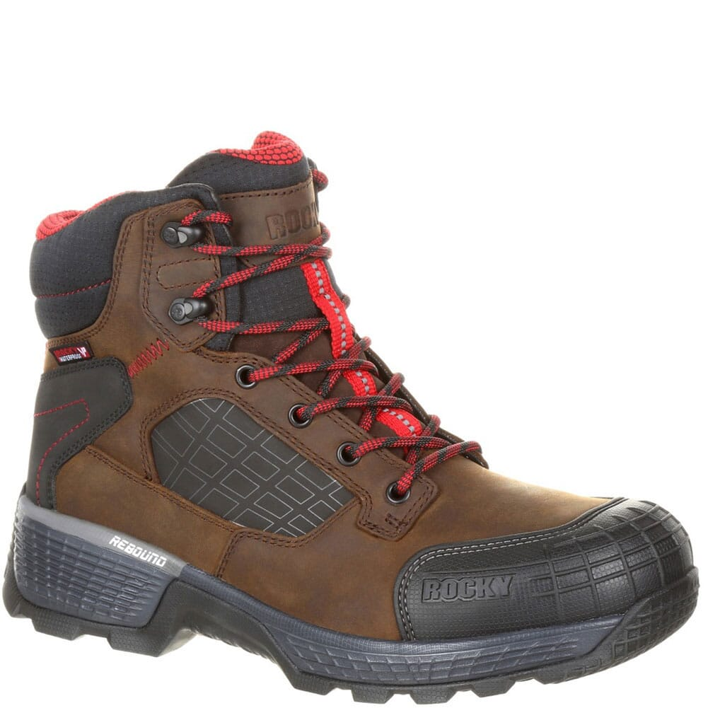 Image for Rocky Men's Treadflex WP Safety Boots - Brown from bootbay