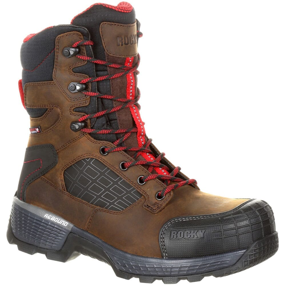 Image for Rocky Men's Treadflex 8IN WP Safety Boots - Brown from bootbay