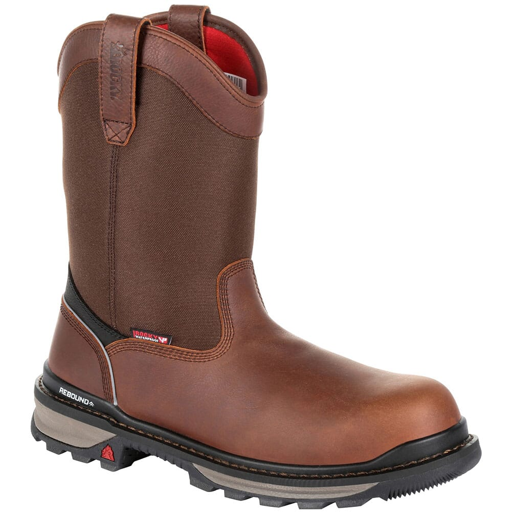 Image for Rocky Men's Rams Horn Wellington WP Safety Boots - Dark Brown from bootbay