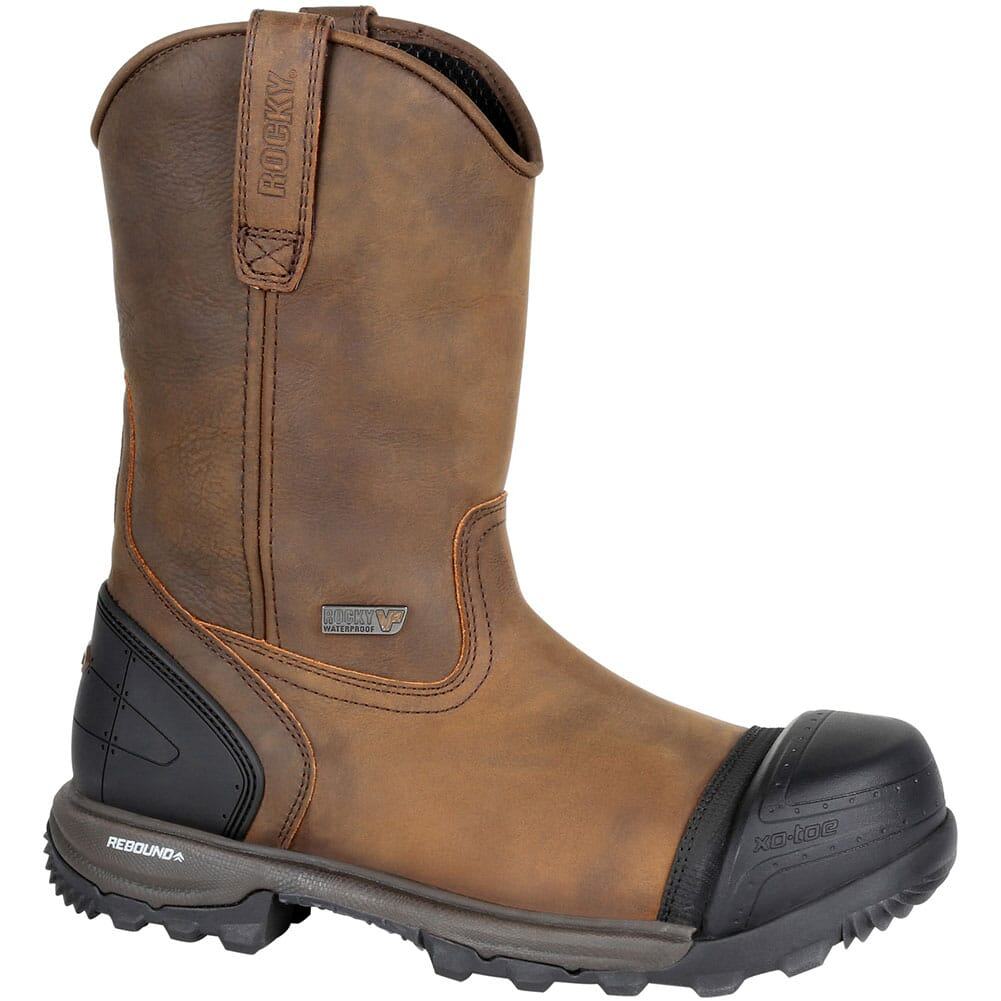 Image for Rocky Men's XO-TOE WP Pull-On Safety Boots - Brown from bootbay