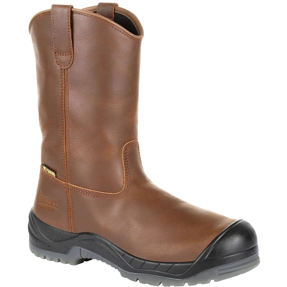 Image for Rocky Men's Worksmart Wellington Internal Met Guard Safety Boots - Brown from bootbay