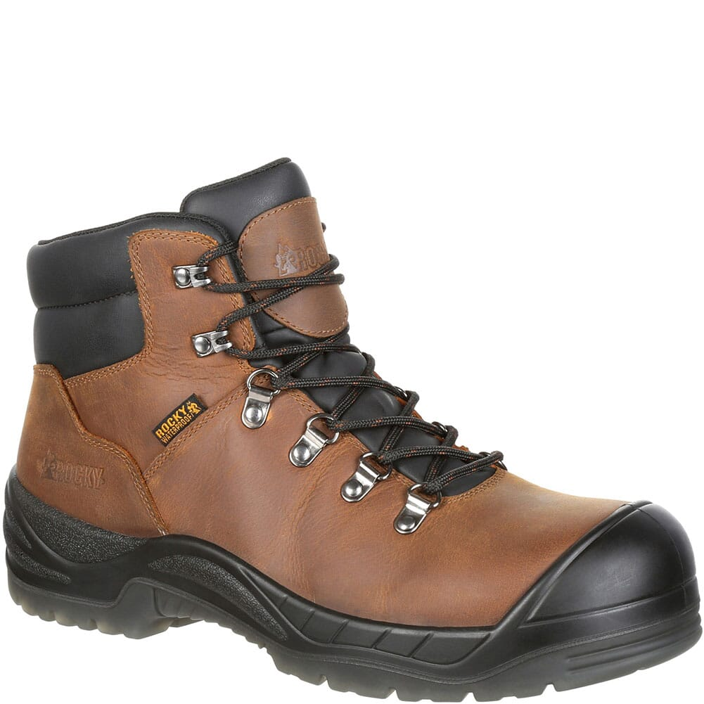 Image for Rocky Men's Worksmart Internal Met Guard Safety Boots - Brown from bootbay