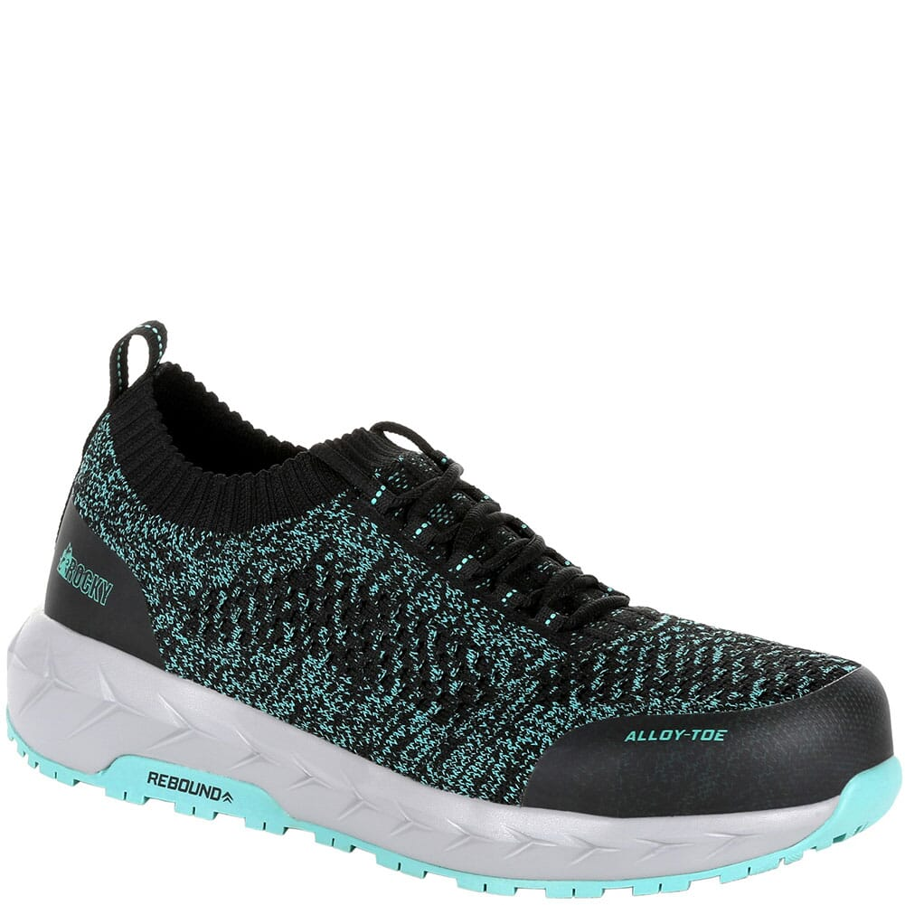 Image for Rocky Women's WorkKnit LX Alloy Toe Safety Shoes - Black/Teal from bootbay