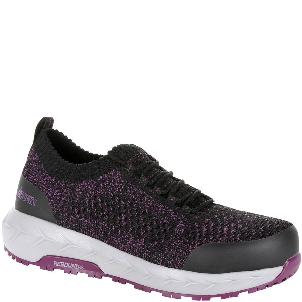 Image for Rocky Women's WorkKnit LX Alloy Toe Safety Shoes - Black/Purple from elliottsboots