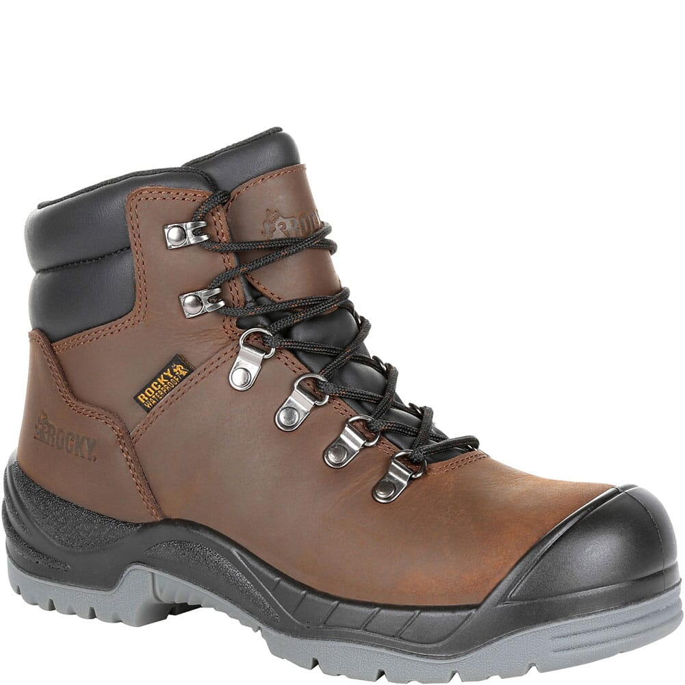 Image for Rocky Women's Worksmart Women's WP Work Boots - Dark Brown from elliottsboots