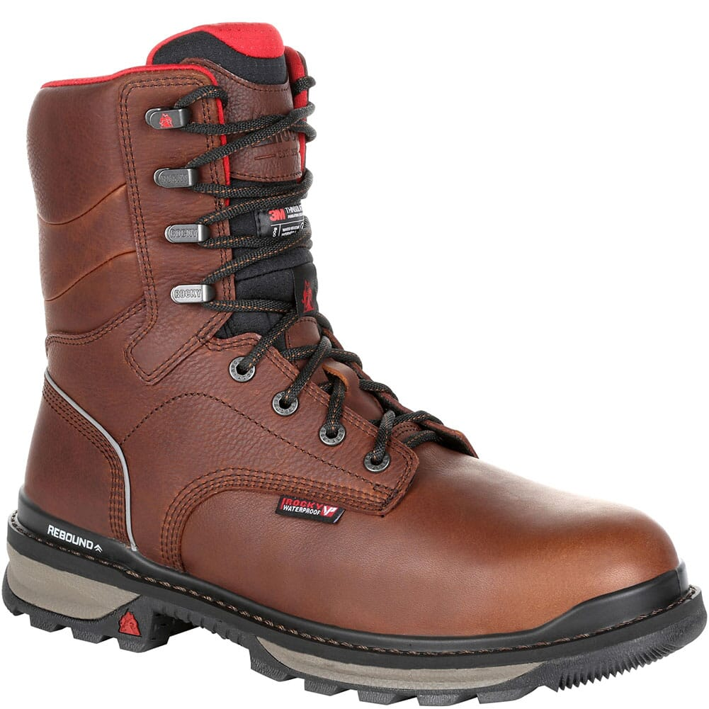 Image for Rocky Men's Rams Horn Insulated Safety Boots - Dark Brown from bootbay