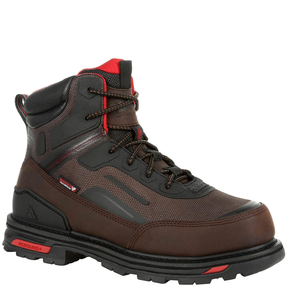 Image for Rocky Men's RXT Waterproof Safety Boots - Dark Brown from bootbay