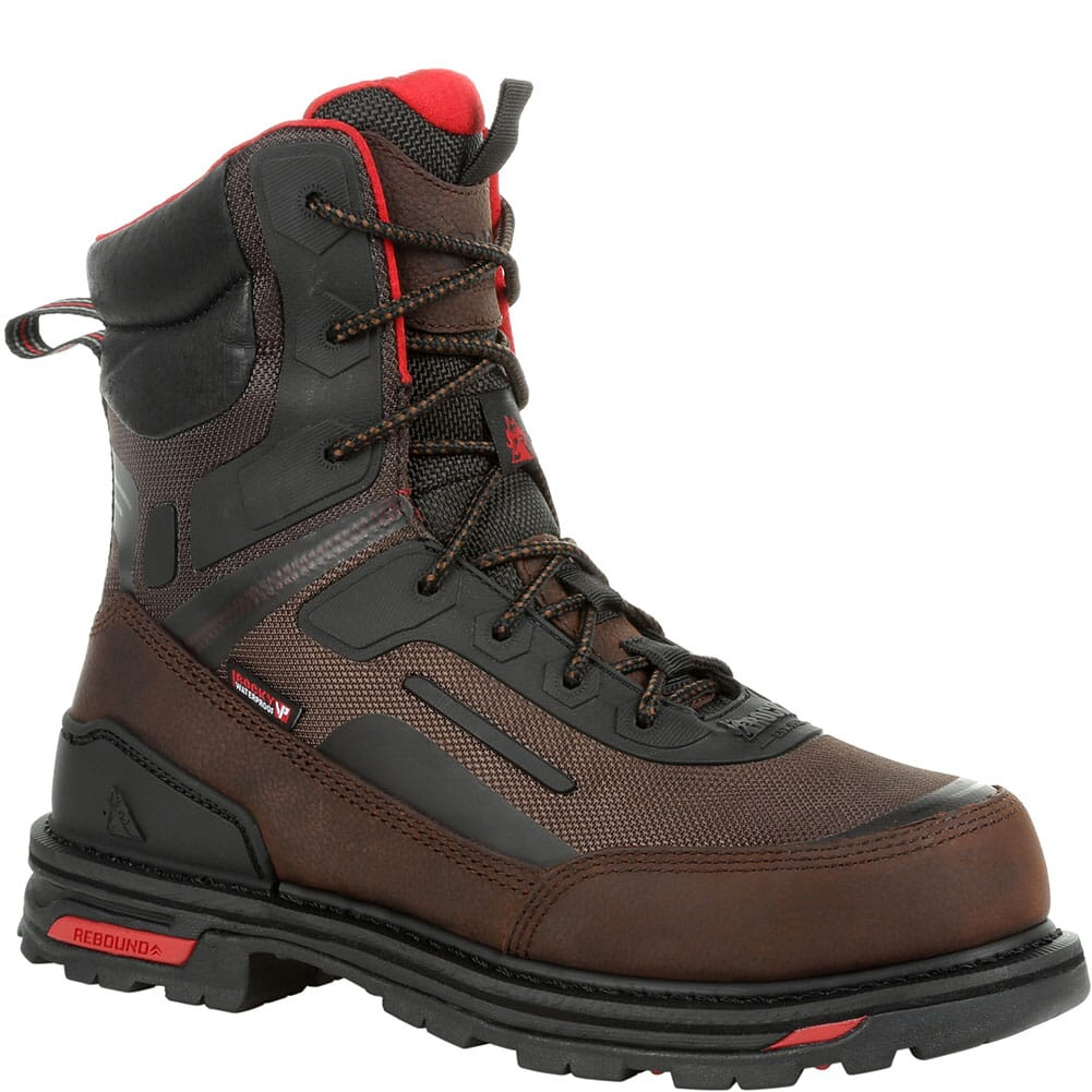 Image for Rocky Men's RXT WP Safety Boots - Dark Brown from bootbay