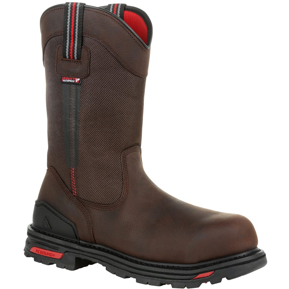 Image for Rocky Men's RXT WP Pull On Safety Boots - Dark Brown from bootbay