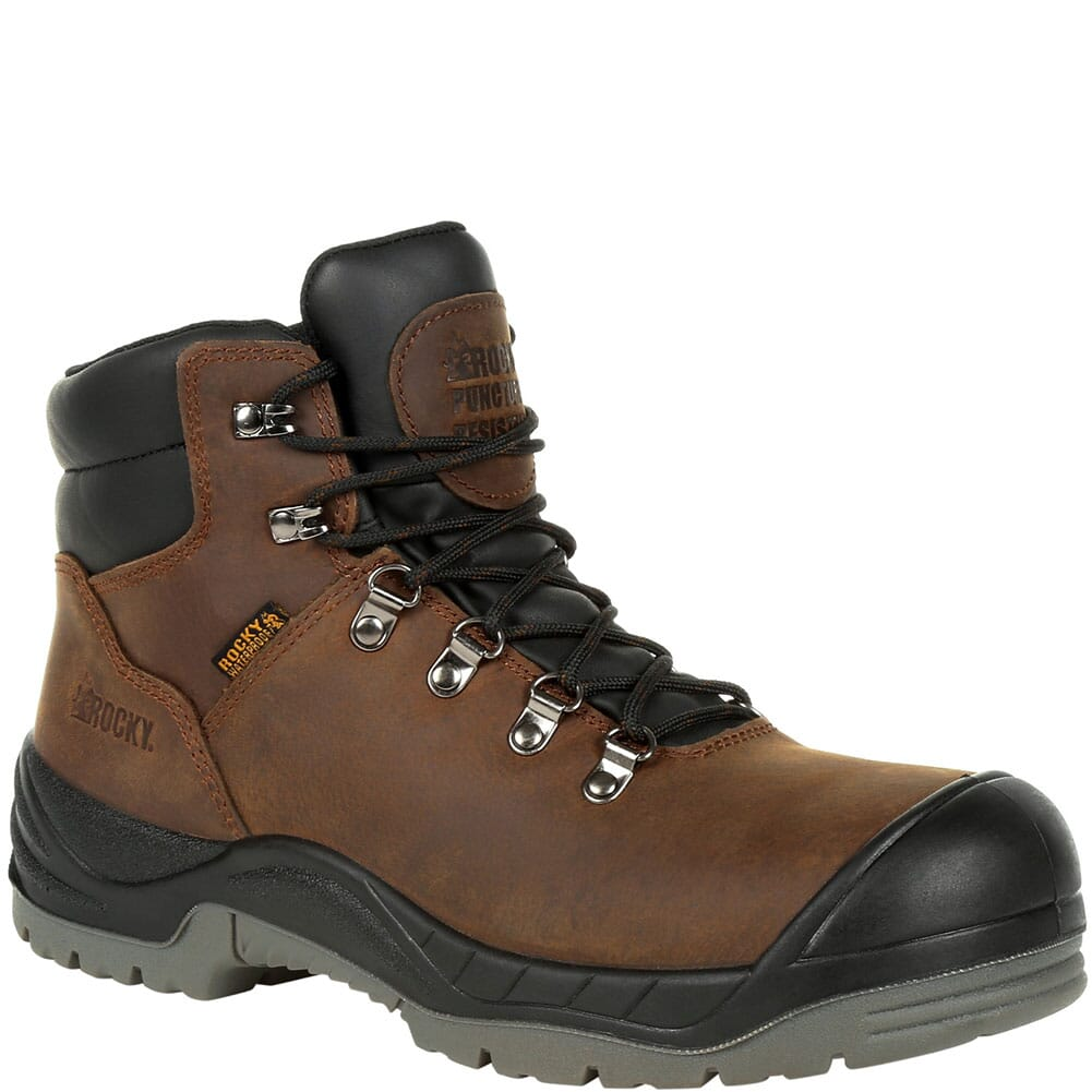 Image for Rocky Men's Worksmart Puncture Resistant Safety Boots - Brown from bootbay