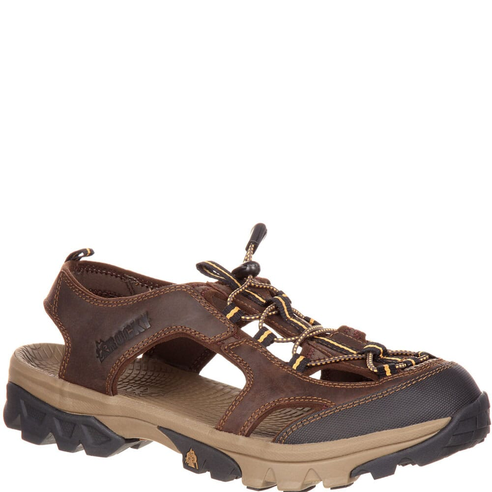 Image for Rocky Men's Endeavor Point Sandals - Dark Brown from bootbay