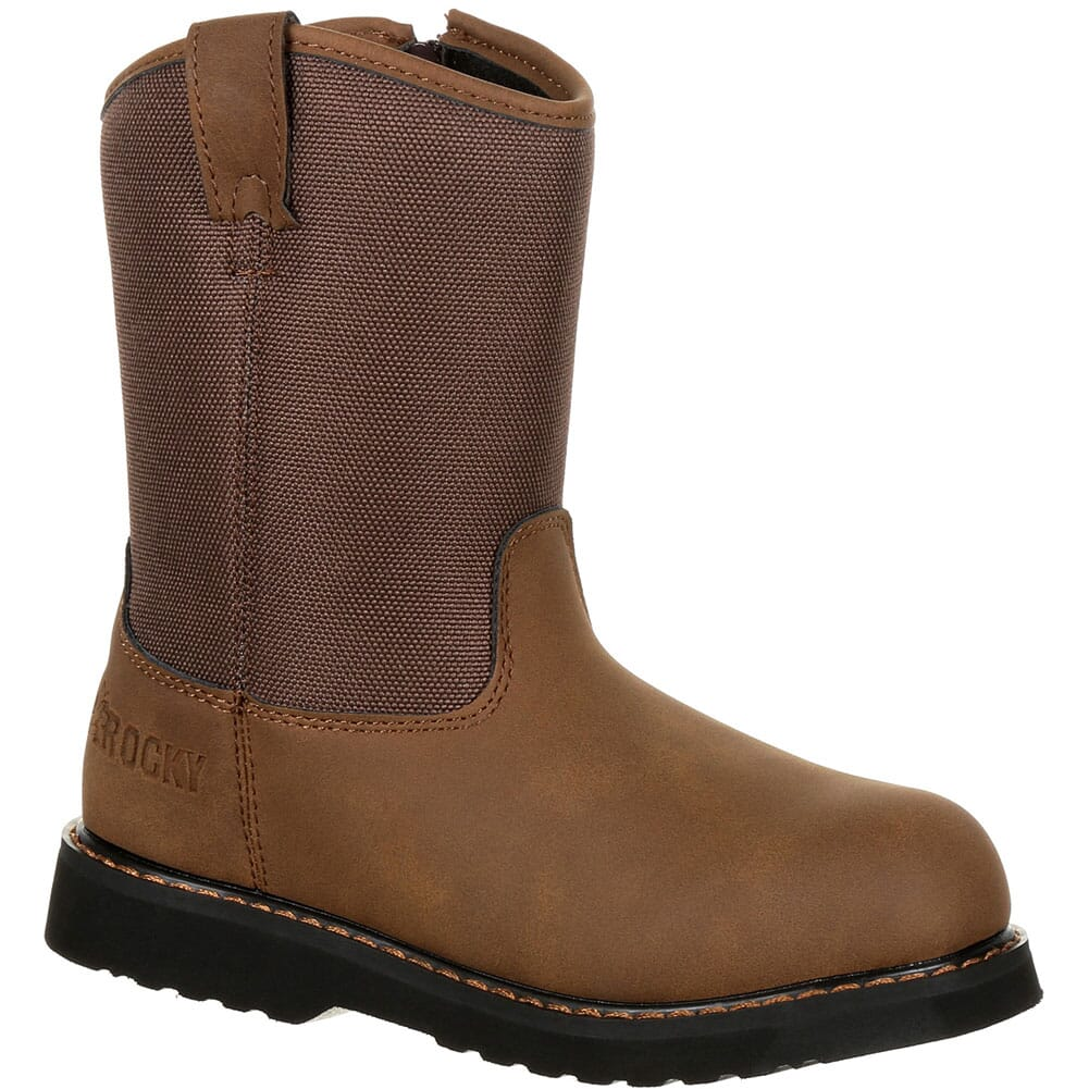 Image for Rocky Big Kid's Lil Ropers Outdoor Boots - Dark Brown from bootbay