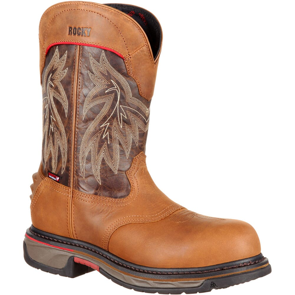 Image for Rocky Men's Iron Skull WP Safety Boots - Dark Brown/Brown from bootbay