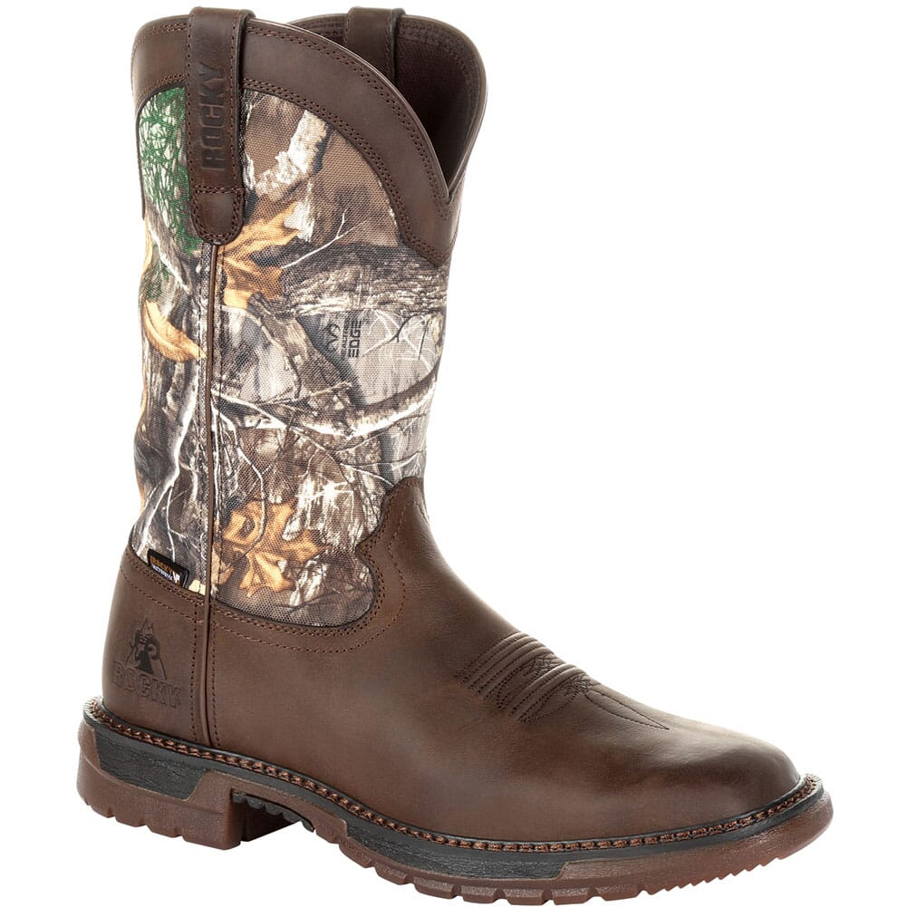 Image for Rocky Original Ride Men's FLX WP Western Boots - Brown/Realtree Camo from bootbay