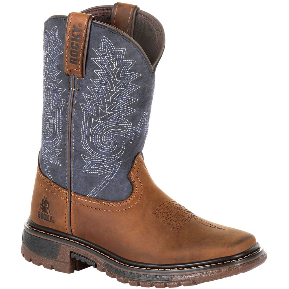Image for Rocky Big Kid's Ride FLX Western Boots - Denim Brown from bootbay