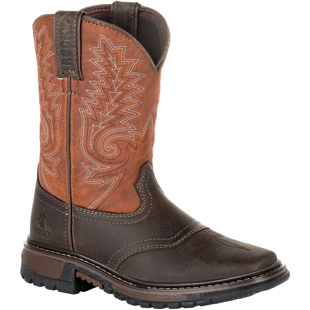 Image for Rocky Kid's Ride FLX Western Boots - Dark Chocolate/Burnt Orange from bootbay