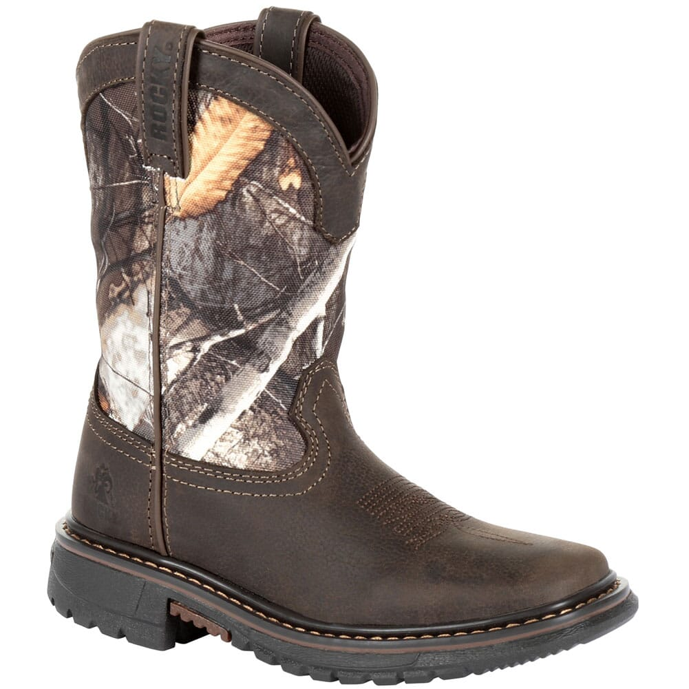 Image for Rocky Big Kid's Ride FLX WP Western Boots - Realtree Camo from bootbay