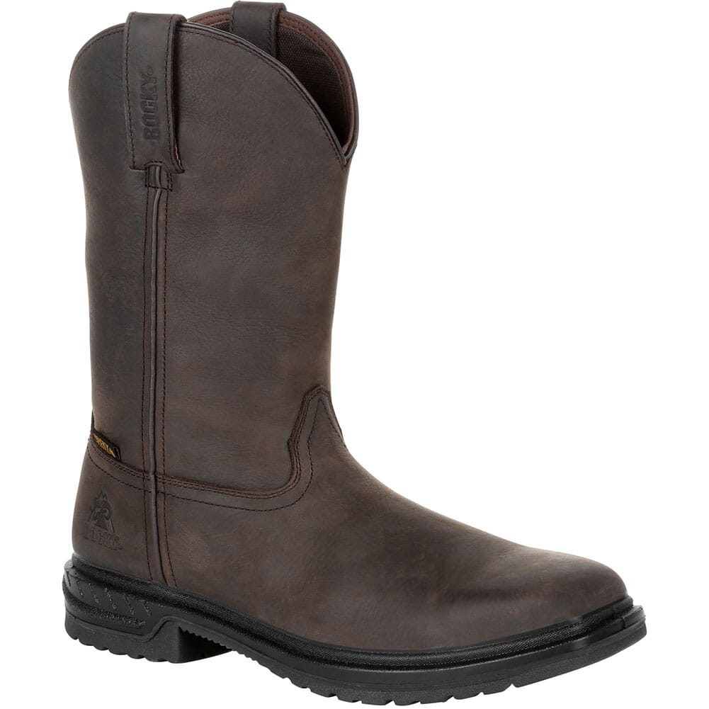 Image for Rocky Men's WorkSmart WP Safety Pull-On Boots - Brown from bootbay