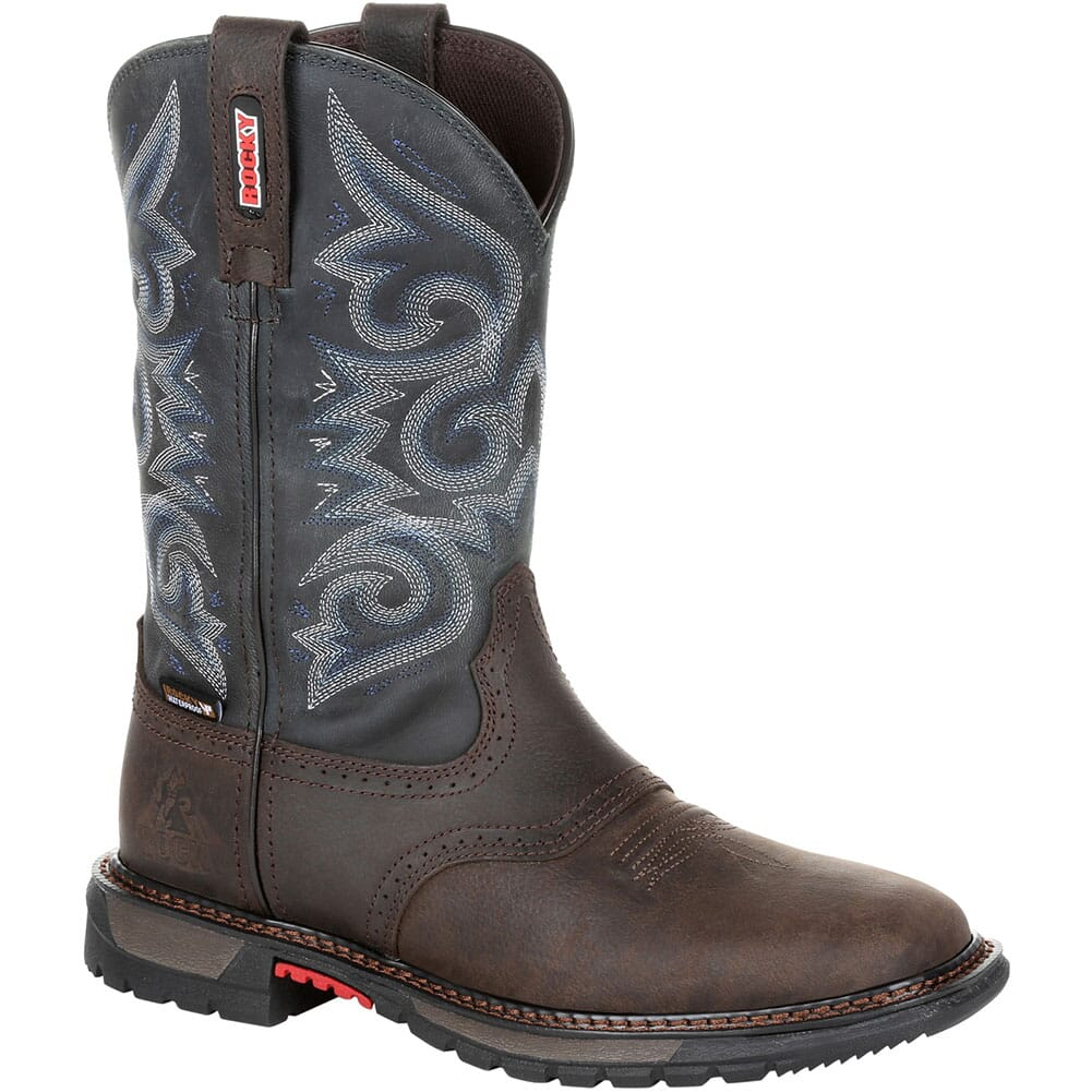 Image for Rocky Original Women's Ride FLX WP Western Boots - Chocolate/Midnight Bl from bootbay