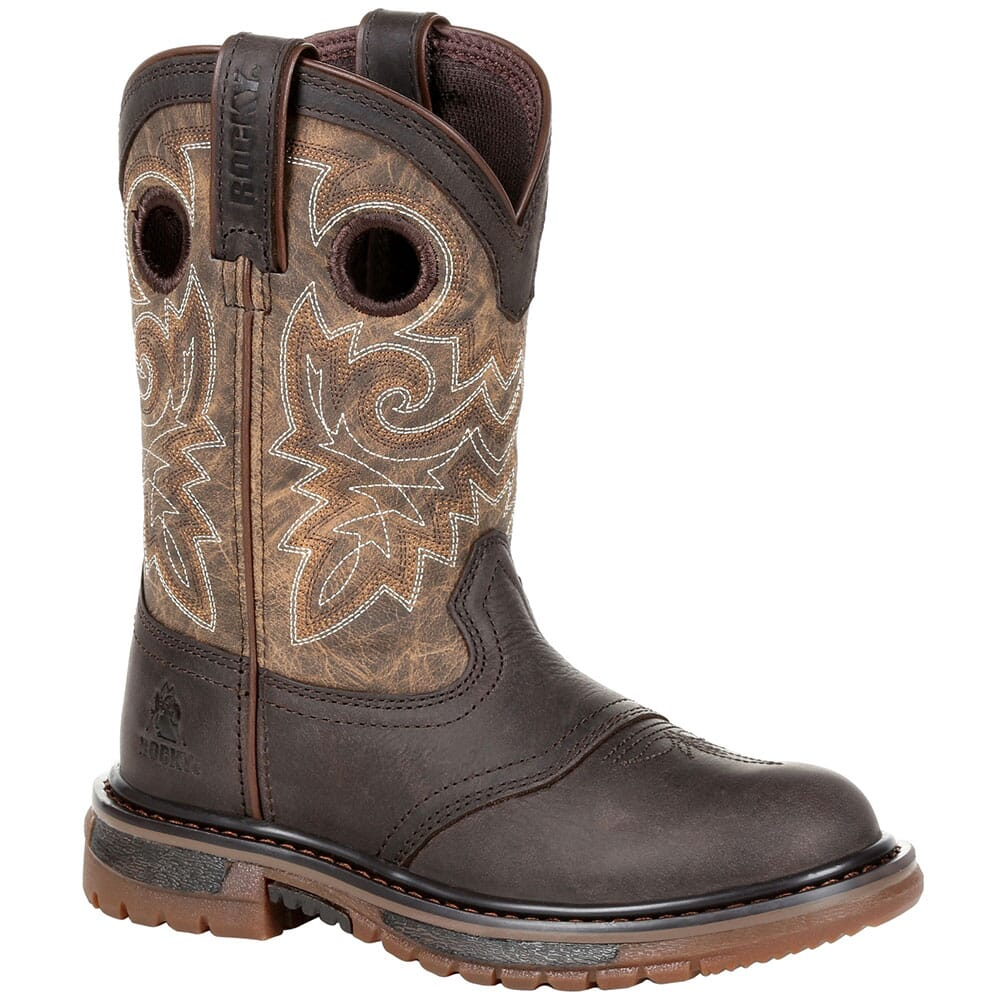 Image for Rocky Big Kid's Original Ride FLX Western Boots - Tan/Brown from bootbay
