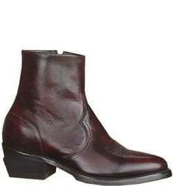 Image for Sage Men's Side Zip Casual Boots - Black Cherry from bootbay