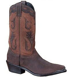 Image for Sage Men's Cowhide Western Boots - Brown Distressed from bootbay