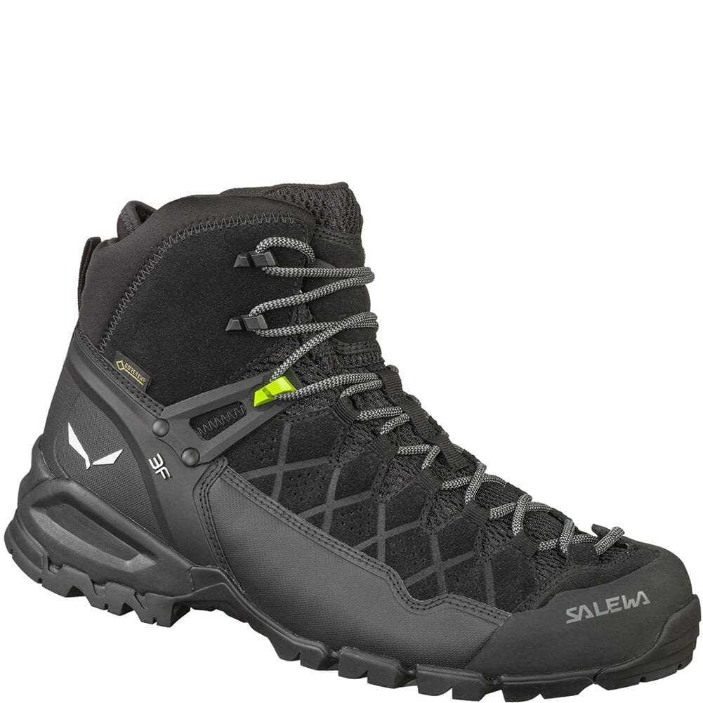 Image for Salewa Men's Alp Trainer Mid GTX Hiking Boots - Black from bootbay